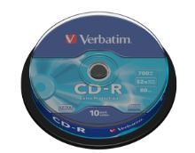 VERBATIM CD-R(10-Pack)Spindle/EP/DL/52x/700MB