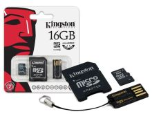 16GB Mobility Kit G2 Kingston (microSD+adapt+čteč)
