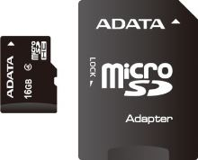 ADATA 16GB MicroSDHC Card  with Adaptor Class