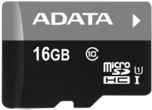 ADATA 16GB MicroSDHC Premier,class 10,with Adapter
