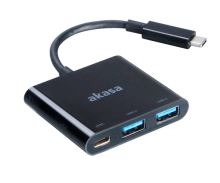 AKASA - power adaptér USB typ C s USB 3.0