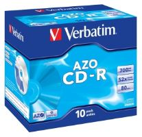 VERBATIM CD-R(10-Pack)Jewel/Crystal/52x/700MB