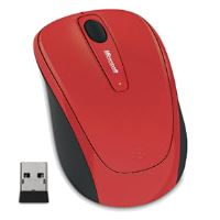 Microsoft Wireless Mobile Mouse 3500, flame red gloss