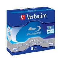 VERBATIM BD-R DL(5-Pack)Jewel/6x/50GB