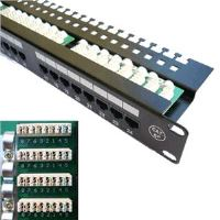 "Patch panel 24x RJ-45,Cat5e UTP, 19"" s vyvázáním"