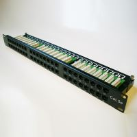 DATACOM Patch panel 48p. Cat5e 1U BK 8x6p. Modul, UTP, 19
