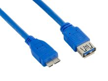 4World Kabel USB 3.0 AF-Micro BM 3.0m Blue